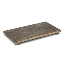 Mango Wood Trivet with Metal Inlay, GG Heritage Collection