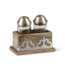 Mango Wood with Metal Inlay Salt & Pepper, GG Heritage Collection
