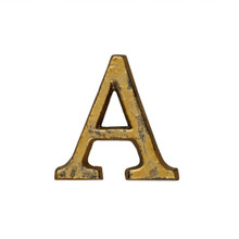 Metal Letter-A, Rustic Finish, 1.5 Inches Tall