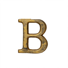 Metal Letter-B, Rustic Finish, 1.5 Inches Tall