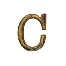 Metal Letter-C, Rustic Finish, 1.5 Inches Tall