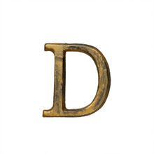 Metal Letter-D, Rustic Finish, 1.5 Inches Tall