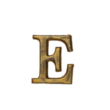 Metal Letter-E, Rustic Finish, 1.5 Inches Tall