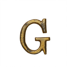 Metal Letter-G, Rustic Finish, 1.5 Inches Tall