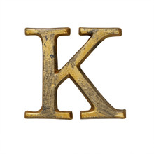Metal Letter-K, Rustic Finish, 1.5 Inches Tall