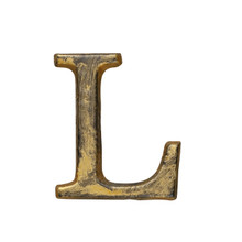 Metal Letter-L, Rustic Finish, 1.5 Inches Tall