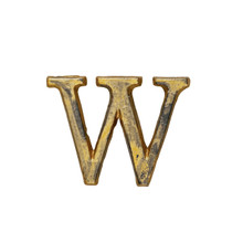 Metal Letter-W, Rustic Finish, 1.5 Inches Tall