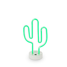 LED Neon Green Cactus - 4 Pieces