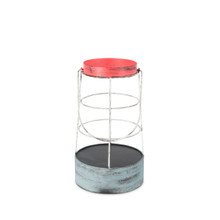Metal Caged Buoy Hurricane Candle Holder