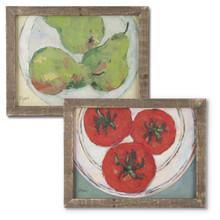 Set of 2 Fresh Fruit Wall Art