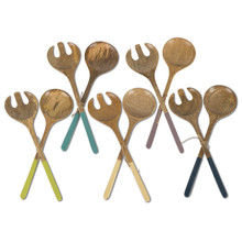 5 Sets of 2 Dipped Serving Spoons