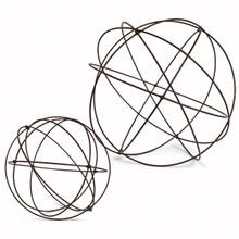 Set of 2 Wire Garden Spheres