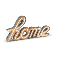 "24""L Metal/Wood LED Sign-HOME - 2 Pieces"