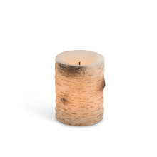 "3x4"" Birch LED Candle, Timer - 6 Pieces"