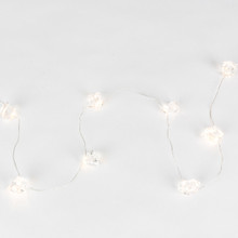 40 Inch Warm White Acrylic Gems String - 12 Sets