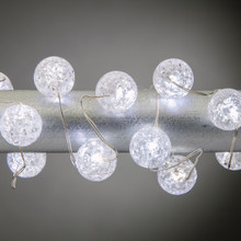 10ft 30 Light Cool White Micro LED string with Timer - 6 Sets