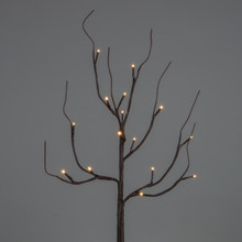 27 Inch Brown Wrapped Branch with Timer - 6 Sets