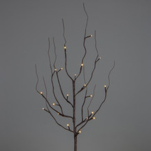 "39"" Brown Wrapped LED Branch with Timer - 6 Sets"