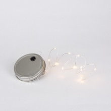 Indoor/Outdoor Jar Lid with 30 Inch Warm White Micro LED Light String and Timer - 12 Pieces