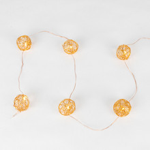 10ft Battery Operated Copper Wire Ball, LED - 6 Sets