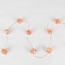 10ft Battery Operated Rose Gold Striped Cube - 6 Sets