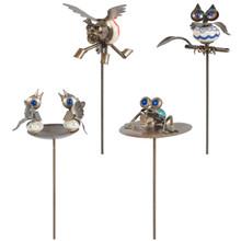 Cabinet Knob Animal Yard Stake - 8 Pieces