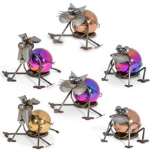 """7""""H Steel Gazing Ball Sitters - 6 Pieces"""