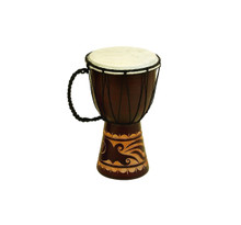 Wood Leather Djembe Drum For decor With Musical Blend