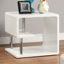 Ninove I Contemporary Style End Table, White