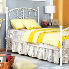 Princess Design Twin Size Metal Bed, White