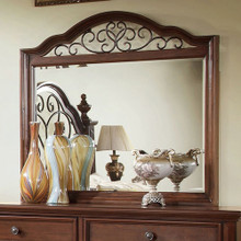Landaluce Antique Dark Oak  Metal Design Mirror