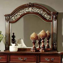 Arthur Traditional Elegant Style Mirror , Brown Cherry