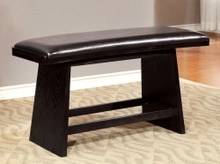 Hurley Modern Style Counter Height Bench , Black