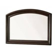 Litchville Contemporary Style Mirror , Brown Cherry