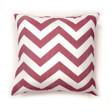 Zoe Contemporary Pillow, Red Chevron, Set of 2