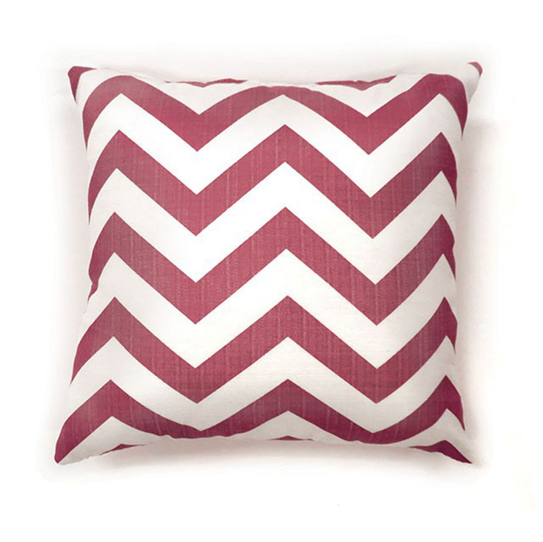 Zoe Contemporary Pillow, Red Chevron, Set of 2