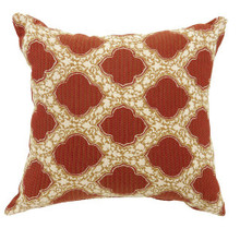 ROXY Contemporary Small Pillow With pattern Fabric, Red Finish, Set of 2