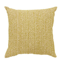 GAIL Contemporary Small Pillow, Yellow Finish, Set of 2