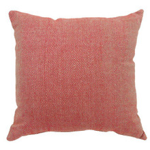 JILL Contemporary Big Pillow, Red Finish, Set of 2