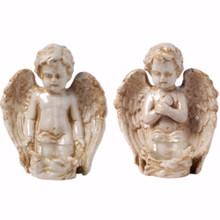 Peacefully Praiseworthy Set Of 2 Angels