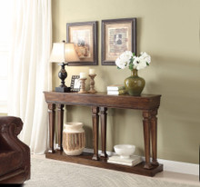 Console Table, Oak Brown