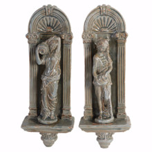 Appeal Ceramic Wall decors, Set of 2, Gray