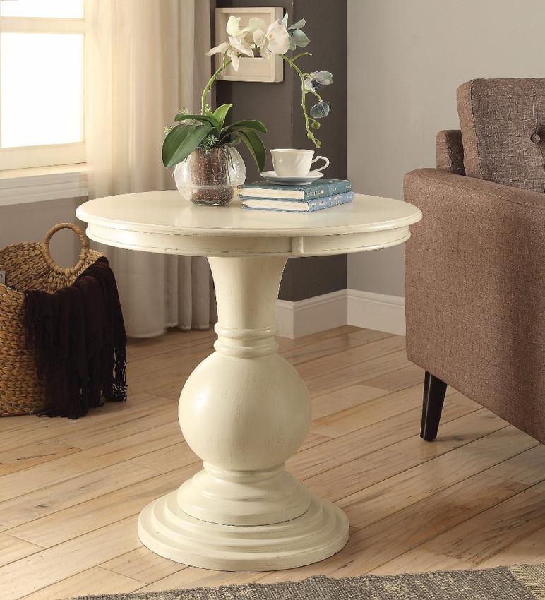 Accent Table, Antique White