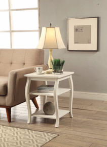 Beautiful End Table, White