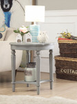 End Table, Antiqued Slate