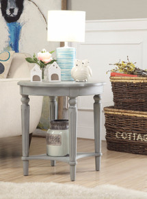 End Table, Antiqued Slate