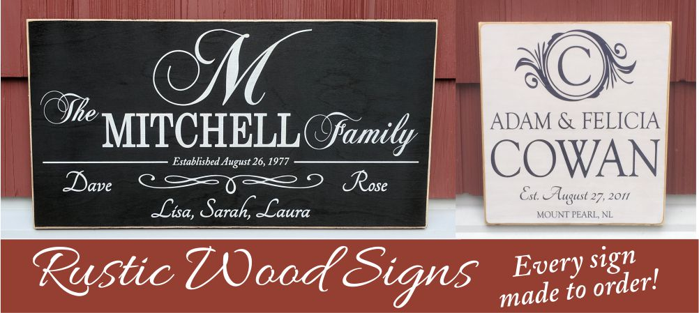 Wood Signs Rustic