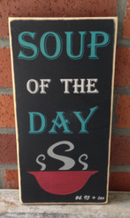 soup of the day sign