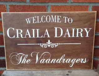 Craila Dairy Sign