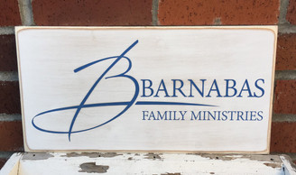 shabby chic wood business sign
